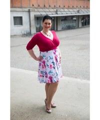 729127c93bc Bellazu CZ Krátké letní šaty Alanis Bellazu s květinovou sukní s krátkým  rukávem