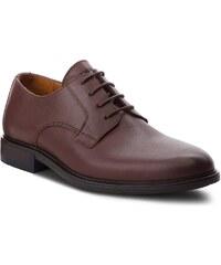 da94e3d74081 Pantofi TOMMY HILFIGER - Color Block Heel Leather Shoe FM0FM01616 Coffee 211