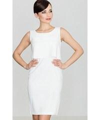 LENITIF Dámske šaty v smotanovej farbe K388 b46e35b9612