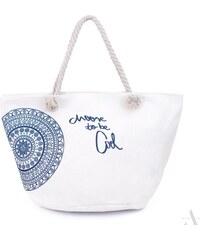 561637e0d8 ArtOfPolo Plážová taška be Cool Bílá
