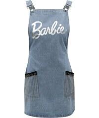 64530a4a34 Svetlomodré rifľové šaty s trakmi a strapcami MISSGUIDED Barbie
