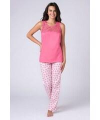 COTONELLA Dámské pyžamo Jersey růžové růžová 7b8521358b
