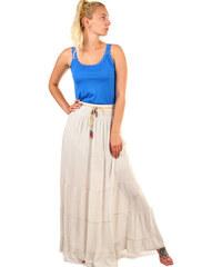 d2434ec334f Glara Jednobarevná dlouhá dámská maxi sukně