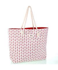 bc694d669 Dámská bavlněná plážová taška s kotvičkami Kbas červená 112809R
