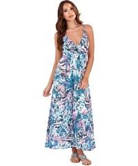 6ba26d0b0a9 CONTINENTAL Dámské maxi šaty Maya modrobílé