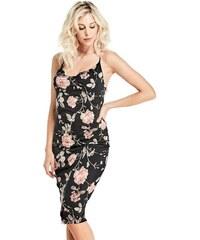 53c1bf5fda0 šaty GUESS Olivia Cowl Floral Dress černá M
