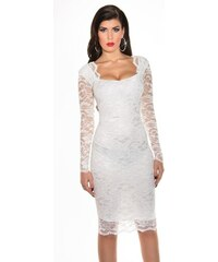 c1769575a560 Strikingstyle Púzdrové čipkované šaty   biele