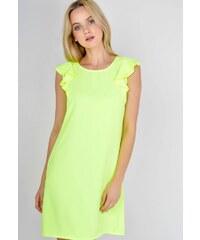 eca2581f5fce The SHE Žlté šaty s volánmi