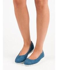 4e4707750d8 Dámské baleríny Setsuko modré - modrá