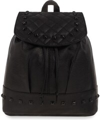 728427dc01f World-Style.cz Dámský batoh vak s klobou zdobený cvočky rockový styl - černá