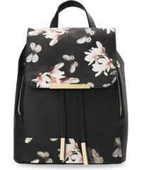 1235587e89f World-Style.cz Stylový dámský batoh s klopou zpevněné dno eko kůže s  květovým