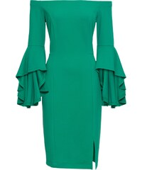bdf36a4aae7 Zelené šaty s volány - Glami.cz