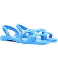 584cb8ee11c972 Tmavě modré zlevněné dámské sandály bez podpatku - Glami.cz