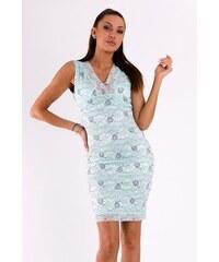 EMAMODA Dámské krajkové šaty Emamoda Ornament modré - MINT e801336330