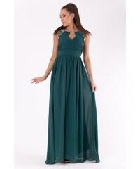 PINK BOOM Dámské společenské večerní šaty PINK BOOM zelené - Платье 5463805bd1