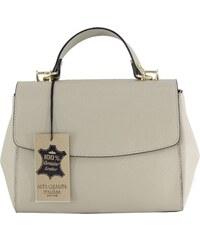 Kožená luxusní béžová taupe kufříková kabelka joane VERA PELLE 13201 df25fdf6fcd
