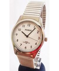 d63ffdc3767 Pánské stříbrné ocelové hodinky Foibos 7285.2 s natahovacím páskem