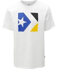 d66d64b49b1 Bílé pánské tričko s potiskem Converse Chevron Tri Color