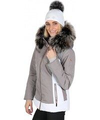 752158f6ac38 Luhta Dámská zimní bunda BEATA bílo-šedá s kožešinovým lemem L02