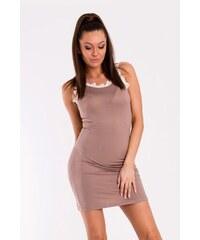 YNS Dámské neformální šaty YNS Easy hnědé - hnědá e6c1e05239