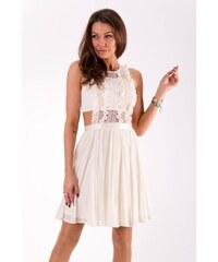 Lily McBee Dámské letní společenské šaty Lily McBee Crochet smetanové -  krémová 08f2c70178