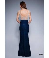 SOKY SOKA Dámské společenské šaty SOKY SOKA Royal námořnická modř -  námořnická e3f630b67f