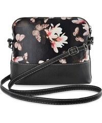 3c0af84be0 World-Style.cz Dámská kabelka květovaný vzor listonoška - černá