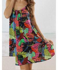LM moda A Letní plážové šaty k moři květované bd70cb7e16