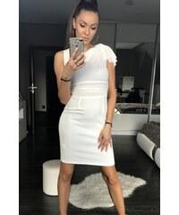 EMAMODA Dámské společenské šaty EMAMODA Hips bílé - bílá 125ff6f6f5