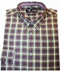 8681fb61ca0a Pánská košile Luko SlimFit 5446 - moka kostka