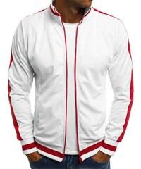 Bílá mikina s červenými doplňky O 2126 77ae3a9fc5