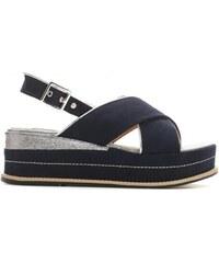51ec27809474 Dámské modré sandály na platformě Silvia 9212