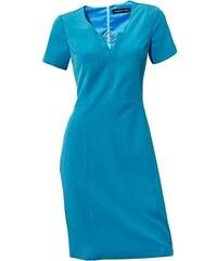 Petrolejové púzdrové šaty Patrizia Dini c1748d06272