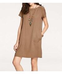 Pohodlné šaty hnedé e5bba89e24f