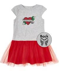 Garnamama Dievčenské šaty s potlačou - bielo-ružové - Glami.sk bf2ab6c5583