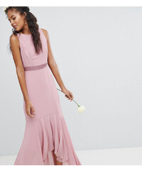TFNC Tall Maxi Bridesmaid Dress With High Low Hem - Vintage rose 1ecb6cec379