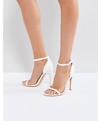 Truffle Collection Barely There Sandal - White pu 4d78cad76d9