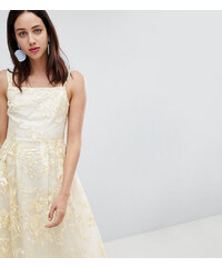 de21654d5c3f Dolly   Delicious All Over Embroidered Floral Lace Midi Prom Dress - Multi
