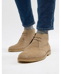 Walk London Hornchurch Suede Desert Boots In Stone - Stone 99222e7d9c7