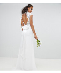 TFNC Tall Bridal Maxi Bridal Dress With Scalloped Lace and Open Back - Ivory d42f1a9610