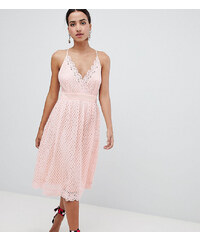 2703d448c7f Boohoo exclusive cami lace midi dress - Pink