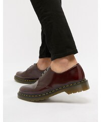 Dr Martens faux leather 1461 3-eye shoes in red - Red 4ca5bee75c