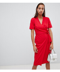 Boohoo exclusive wrap midi dress - Red 88a8f95e5c