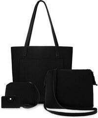 8fb63bfc91 World-Style.cz Praktická sada 4v1 shopper bag listonoška taštička etui -  černá