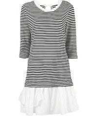 c49fa4e726b Boutique Moschino striped ruffle hem dress - White