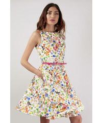 Barevné šaty s úzkou sukní Closet Deja - Glami.cz f3fda8ae85