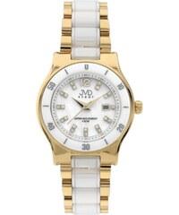c8bb31511b4 Dámské keramické bílé hodinky JVD steel J4125.2 s perleťovým číselníkem  POŠTOVNÉ ZDARMA!