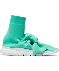 707150f0e8a Joshua Sanders Turquoise Knot sock sneakers - Green
