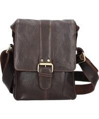 fd011300a5 Sendi Design Panská kožená taška přes rameno SendiDesign Pier - hnědá