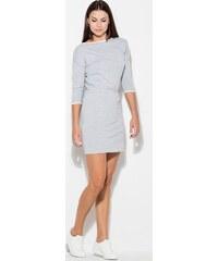 0f10c3e81c2f KATRUS Šedé športové šaty s lemovaním K105 Grey